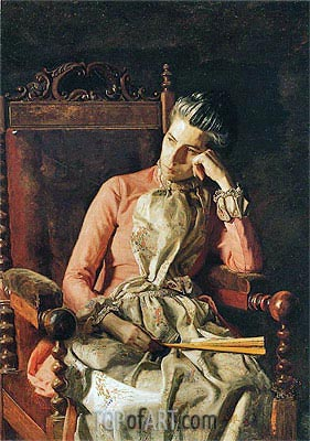 Miss Amelia Van Buren, c.1891 | Thomas Eakins | Painting Reproduction