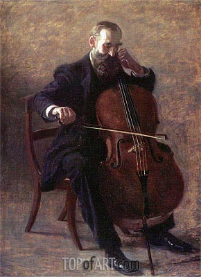 The Cello Player, 1896 | Thomas Eakins | Gemälde Reproduktion