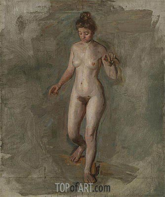 The Model, c.1908 | Thomas Eakins| Painting Reproduction