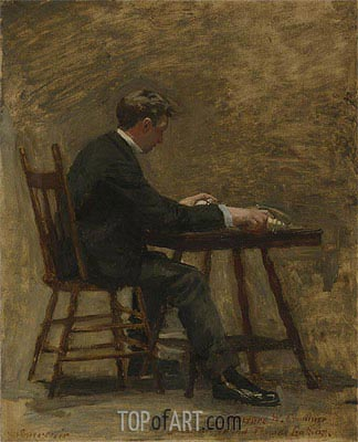 The Timer (Study For 'Between Rounds'), c.1898 | Thomas Eakins | Gemälde Reproduktion