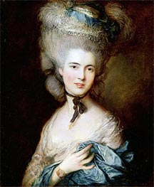 A Woman in Blue (Portrait of the Duchess of Beaufort), c.1775/80 von Gainsborough | Gemälde-Reproduktion