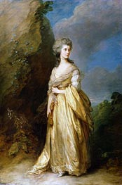 Mrs. Peter William Baker, 1781 von Gainsborough | Gemälde-Reproduktion