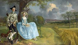 Mr and Mrs Andrews, c.1749/50 von Gainsborough | Gemälde-Reproduktion