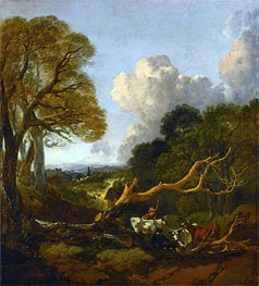 The Fallen Tree, c.1750/53 von Gainsborough | Gemälde-Reproduktion