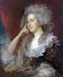 Mrs Fitzherbert, 1784 von Gainsborough | Gemälde-Reproduktion