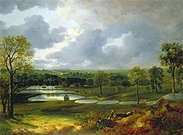 Holywells Park Ipswich, c.1748/50 von Gainsborough | Gemälde-Reproduktion