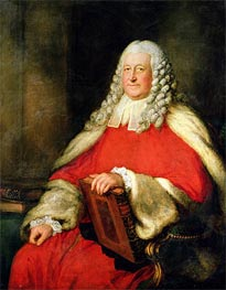 Portrait of Sir Edward Willes in Judge's Robes, Undated by Gainsborough   Painting Reproduction