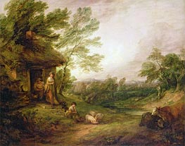 Cottage Door with Girl and Pigs, c.1786 by Gainsborough | Painting Reproduction