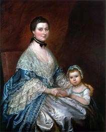Mrs. Bedingfield and her Daughter, c.1760/70 by Gainsborough   Painting Reproduction