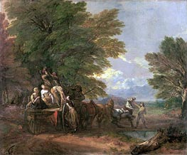 The Harvest Wagon, c.1767 by Gainsborough | Painting Reproduction
