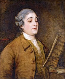 Portrait of Giusto Ferdinando Tenducci, Castrato Singer and Composer, c.1773/75 by Gainsborough | Painting Reproduction