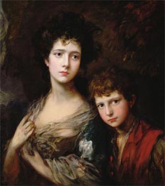 Elizabeth and Thomas Linley, c.1768 by Gainsborough | Painting Reproduction