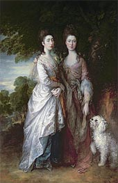 The Painter's Daughters, Undated by Gainsborough | Painting Reproduction