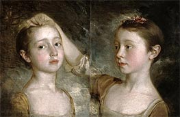 The Painter's Daughters Mary and Margaret, c.1758 by Gainsborough | Painting Reproduction