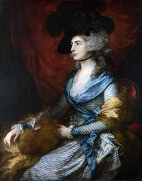 Mrs Siddons, 1785 by Gainsborough | Painting Reproduction