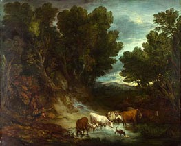 The Watering Place, b.1777 by Gainsborough | Painting Reproduction