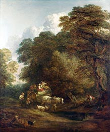 The Market Cart, 1786 by Gainsborough | Painting Reproduction