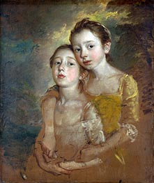 The Painter's Daughters with a Cat, c.1760/61 by Gainsborough | Painting Reproduction