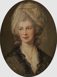 Charlotte, Queen of England, Undated by Gainsborough | Painting Reproduction