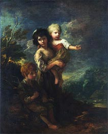 The Wood Gatherers, 1787 by Gainsborough | Painting Reproduction