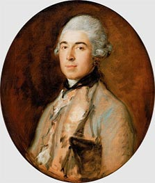 Captain Thomas Mathews   Gainsborough   Painting Reproduction