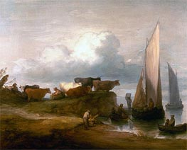 A Coastal Landscape   Gainsborough   Painting Reproduction