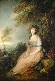 Mrs. Richard Brinsley Sheridan   Gainsborough   Painting Reproduction