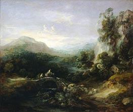 Mountain Landscape with Bridge, c.1783/84 by Gainsborough | Painting Reproduction