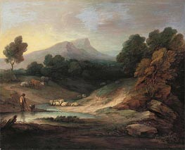 Landscape with Shepherd and Flock, 1784 by Gainsborough | Painting Reproduction