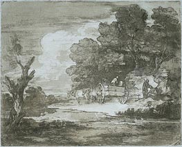 Landscape, 1780 by Gainsborough | Painting Reproduction