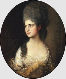 Portrait of Miss Elizabeth Linley, c.1775 by Gainsborough | Painting Reproduction