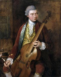 Portrait of Karl Friedrich Abel, c.1765 by Gainsborough | Painting Reproduction