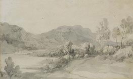 A View in the Lake District, Undated by Gainsborough | Painting Reproduction
