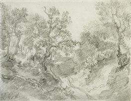 Wooded Landscape, Undated by Gainsborough | Painting Reproduction