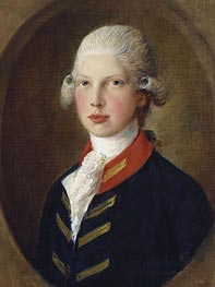 Prince Edward, later Duke of Clarence, 1782 by Gainsborough | Painting Reproduction