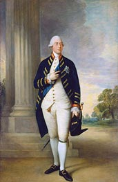 George III, 1781 by Gainsborough | Painting Reproduction
