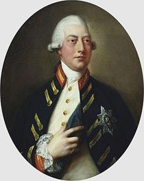 George III, c.1781 by Gainsborough | Painting Reproduction