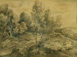 A Figure in a Landscape, c.1775/80 by Gainsborough | Painting Reproduction