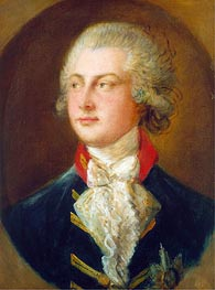 George IV, when Prince of Wales, 1782 by Gainsborough | Painting Reproduction