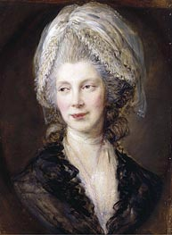 Queen Charlotte, 1782 by Gainsborough | Painting Reproduction