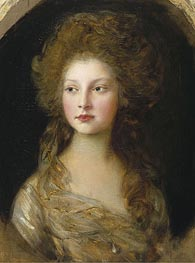 Princess Elizabeth, 1782 by Gainsborough | Painting Reproduction