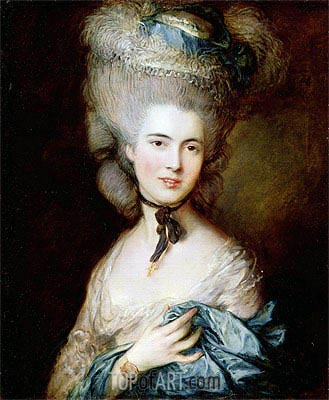 A Woman in Blue (Portrait of the Duchess of Beaufort), c.1775/80 | Gainsborough| Gemälde Reproduktion