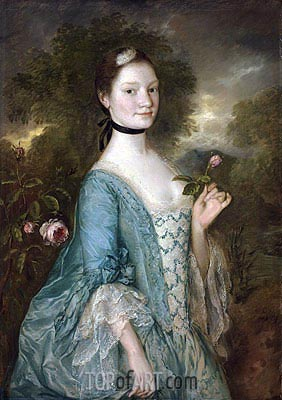 Sarah, Lady Innes, c.1757 | Gainsborough| Gemälde Reproduktion