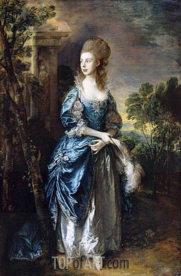 The Hon. Frances Duncombe, c.1777 | Gainsborough| Painting Reproduction