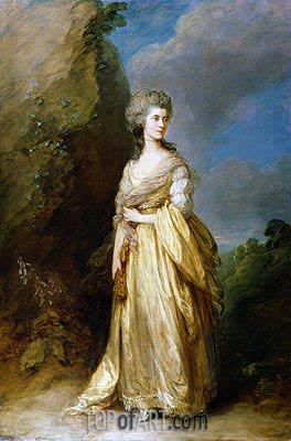 Mrs. Peter William Baker, 1781 | Gainsborough| Gemälde Reproduktion