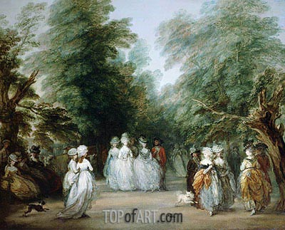 The Mall in St. James's Park, c.1783 | Gainsborough | Painting Reproduction