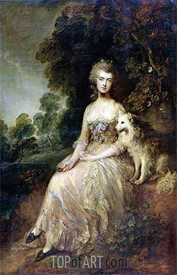 Mrs. Mary Robinson (Perdita), 1781 | Gainsborough | Gemälde Reproduktion