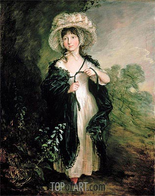 Miss Elizabeth Haverfield, c.1782 | Gainsborough| Painting Reproduction