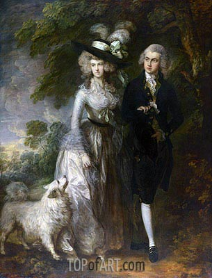 Mr and Mrs William Hallett (The Morning Walk), 1785 | Gainsborough| Painting Reproduction