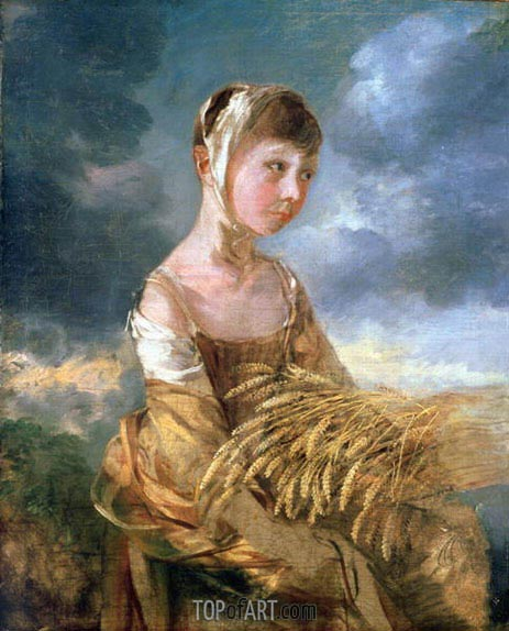 Miss Gainsborough Gleaning, undated | Gainsborough | Painting Reproduction